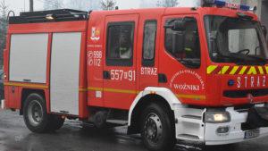 Nowy samochód specjalny pożarniczy w Woźnickiej straży