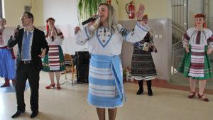 Goście z Ukrainy w Tomickim gimnazjum