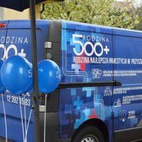 Bus 500 plus w Tomicach