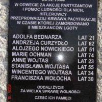 Pacyfikacja przysiółka Podlas w Lgocie