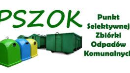 Punkt Selektywnej Zbiórki Odpadów Komunalnych 2020 – informacje