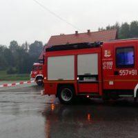 Strażacy w gotowości - potok Zygodówka przypomniał o sobie