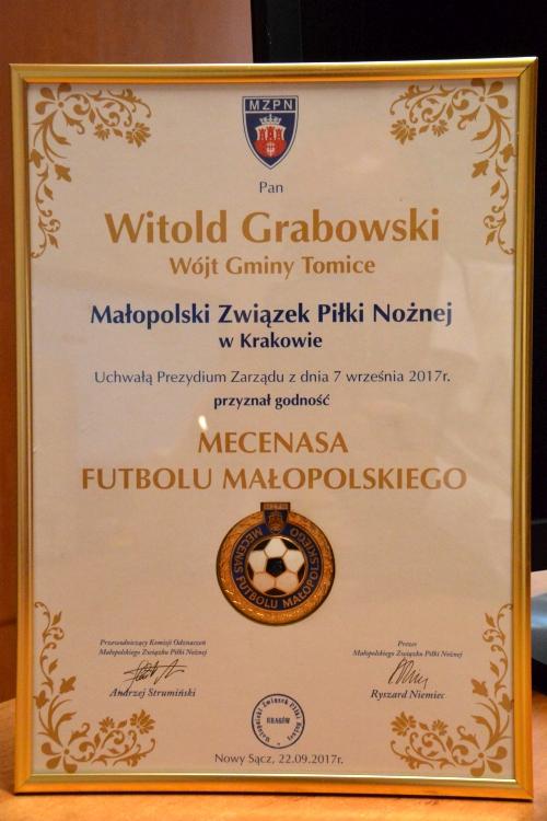 Mecenasi Małopolskiego futbolu uhonorowani