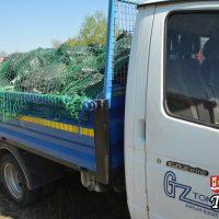 Góra śmieci podczas VII sprzątania Skawy - zebrano 850 kg