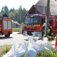 Druhowie strażacy ćwiczyli w Woźnikach