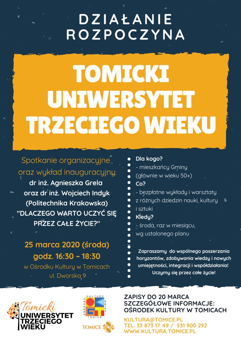 Startuje Tomicki Uniwersytet Trzeciego Wieku