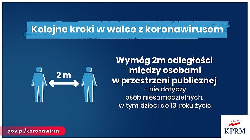 Kolejne restrykcje dla obywateli z powodu epidemii koronawirusa wprowadzone