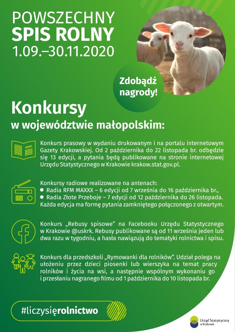 Powszechny Spis Rolny 2020 - Konkursy