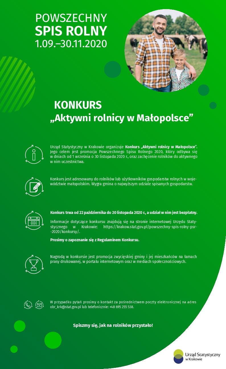 Konkurs - Aktywni rolnicy w Małopolsce