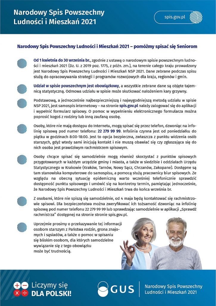 Narodowy Spis Powszechny Ludności i Mieszkań 2021 - informacje