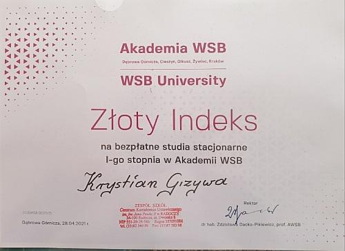 Złoty indeks WSB