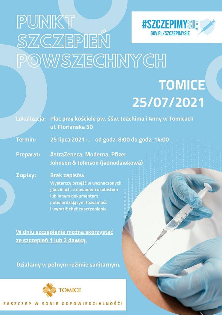 Plenerowa akcja szczepień w gminie Tomice